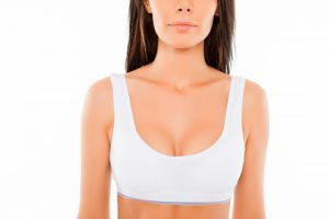 Close Up of Female in White Sports Bra
