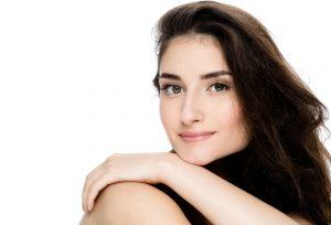 Brunette Model with Dark Green Eyes